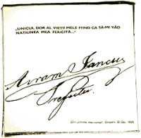 Semnătura lui Avram Iancu, Casa memorială Avram Iancu