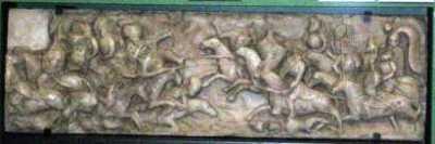 Iancu de Hunedoara îi invinge pe turci, gravură din 1534, Alba Iulia, realizată de Janos Szapolyai